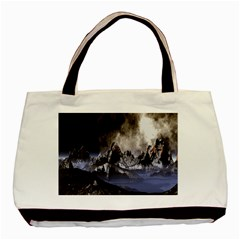 Mountains Moon Earth Space Basic Tote Bag