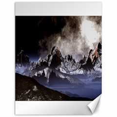 Mountains Moon Earth Space Canvas 12  X 16