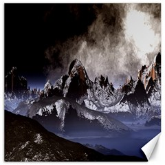 Mountains Moon Earth Space Canvas 20  X 20