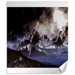 Mountains Moon Earth Space Canvas 20  X 24