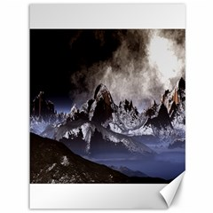 Mountains Moon Earth Space Canvas 36  X 48