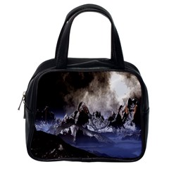 Mountains Moon Earth Space Classic Handbags (one Side)