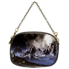 Mountains Moon Earth Space Chain Purses (one Side)