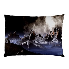 Mountains Moon Earth Space Pillow Case
