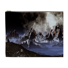 Mountains Moon Earth Space Cosmetic Bag (xl)