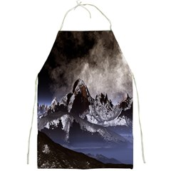 Mountains Moon Earth Space Full Print Aprons