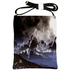Mountains Moon Earth Space Shoulder Sling Bags