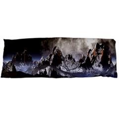 Mountains Moon Earth Space Body Pillow Case (dakimakura)