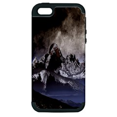 Mountains Moon Earth Space Apple Iphone 5 Hardshell Case (pc+silicone)