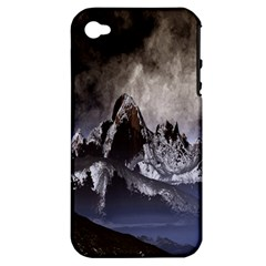 Mountains Moon Earth Space Apple Iphone 4/4s Hardshell Case (pc+silicone)