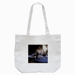 Mountains Moon Earth Space Tote Bag (white)