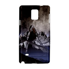 Mountains Moon Earth Space Samsung Galaxy Note 4 Hardshell Case