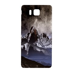 Mountains Moon Earth Space Samsung Galaxy Alpha Hardshell Back Case