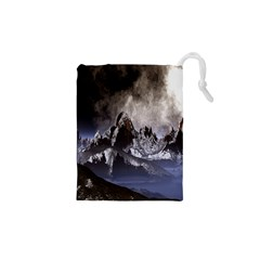 Mountains Moon Earth Space Drawstring Pouches (xs)