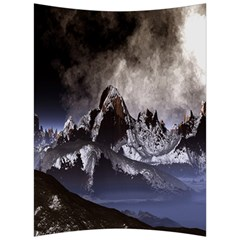 Mountains Moon Earth Space Back Support Cushion