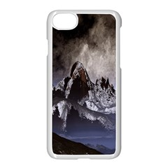 Mountains Moon Earth Space Apple Iphone 8 Seamless Case (white)