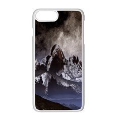 Mountains Moon Earth Space Apple Iphone 8 Plus Seamless Case (white)