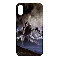 Mountains Moon Earth Space Apple Iphone X Hardshell Case