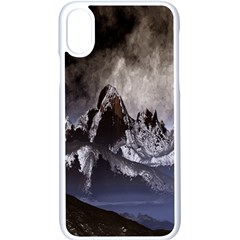 Mountains Moon Earth Space Apple Iphone X Seamless Case (white)
