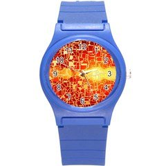 Board Conductors Circuits Round Plastic Sport Watch (s)