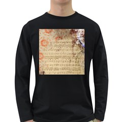 Art Collage Design Colorful Color Long Sleeve Dark T Shirts