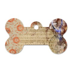 Art Collage Design Colorful Color Dog Tag Bone (two Sides)