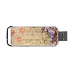 Art Collage Design Colorful Color Portable Usb Flash (one Side)