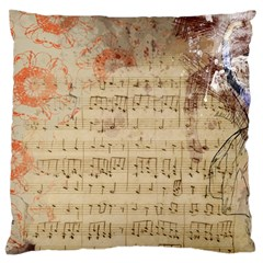 Art Collage Design Colorful Color Large Flano Cushion Case (one Side)