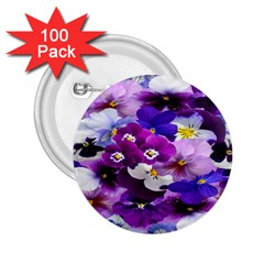 Graphic Background Pansy Easter 2 25  Buttons (100 Pack)