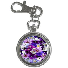 Graphic Background Pansy Easter Key Chain Watches