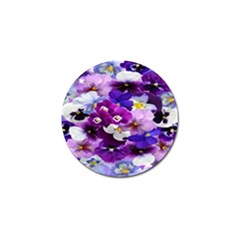 Graphic Background Pansy Easter Golf Ball Marker (4 Pack)