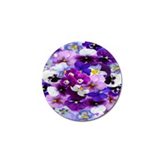Graphic Background Pansy Easter Golf Ball Marker (10 Pack)
