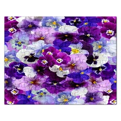 Graphic Background Pansy Easter Rectangular Jigsaw Puzzl