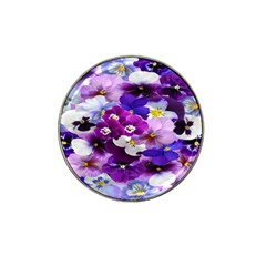 Graphic Background Pansy Easter Hat Clip Ball Marker (4 Pack)