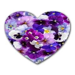 Graphic Background Pansy Easter Heart Mousepads