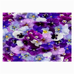 Graphic Background Pansy Easter Large Glasses Cloth