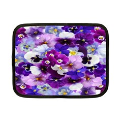 Graphic Background Pansy Easter Netbook Case (small)