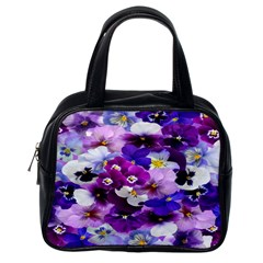 Graphic Background Pansy Easter Classic Handbags (one Side)