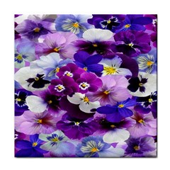 Graphic Background Pansy Easter Face Towel