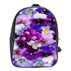 Graphic Background Pansy Easter School Bag (large)