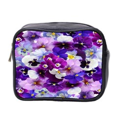 Graphic Background Pansy Easter Mini Toiletries Bag 2 Side