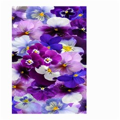 Graphic Background Pansy Easter Small Garden Flag (two Sides)