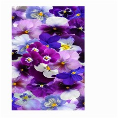 Graphic Background Pansy Easter Large Garden Flag (two Sides)