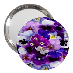 Graphic Background Pansy Easter 3  Handbag Mirrors