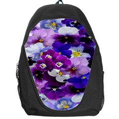 Graphic Background Pansy Easter Backpack Bag