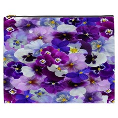 Graphic Background Pansy Easter Cosmetic Bag (xxxl)
