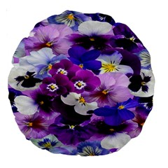 Graphic Background Pansy Easter Large 18  Premium Round Cushions