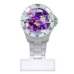 Graphic Background Pansy Easter Plastic Nurses Watch