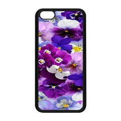 Graphic Background Pansy Easter Apple Iphone 5c Seamless Case (black)