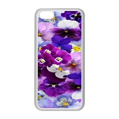 Graphic Background Pansy Easter Apple Iphone 5c Seamless Case (white)